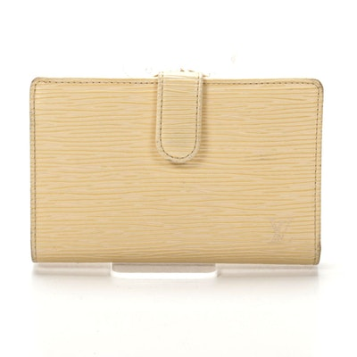 Louis Vuitton French Purse Wallet in Vanilla Epi Leather