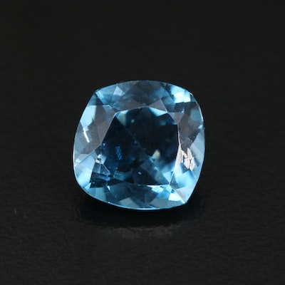 Loose 9.90 CT Offset Square Cushion Faceted Topaz