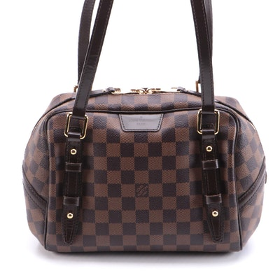 Louis Vuitton Rivington PM in Damier Canvas and Smooth Leather