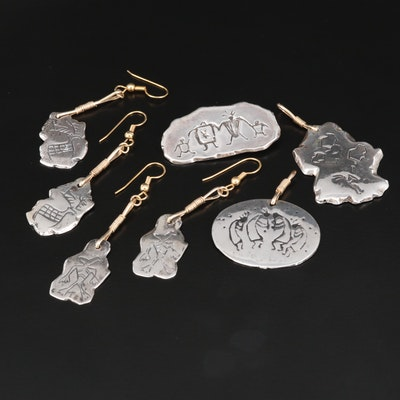 Southwestern Style Sterling Silver Stamped Jewelry