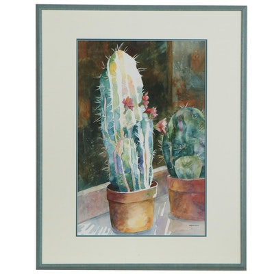 Betty Neubauer Still Life Watercolor Painting of Cacti