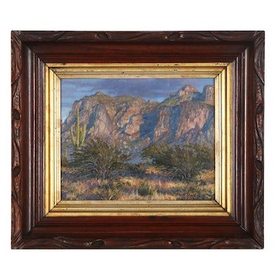 Mick McGinty Southwestern Landscape Oil Painting, 2006