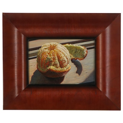 Mick McGinty Still Life Oil Painting of Peeled Orange, 2006
