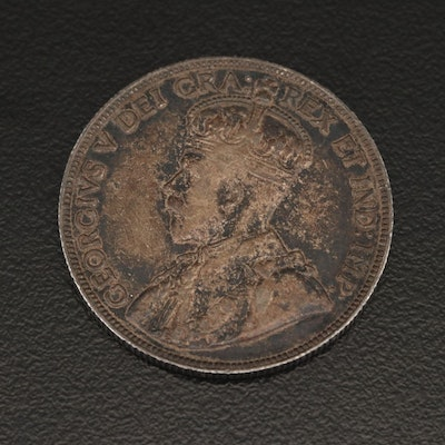 1912 Canadian Silver 50-Cent Coin