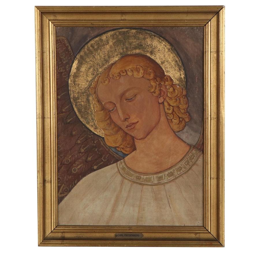 Oil Painting of Archangel Gabriel