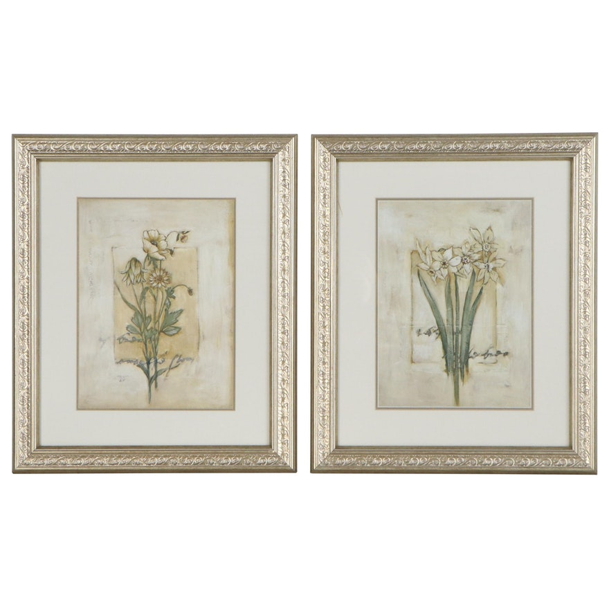 Botanical Inspired Offset Lithographs