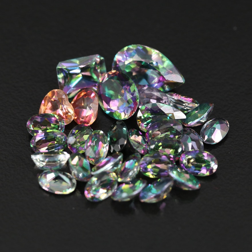 Loose 23.73 CTW Faceted Mystic Topaz