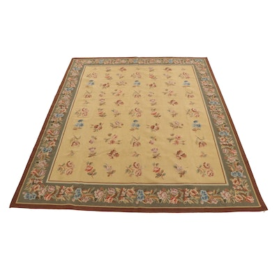 7'11 x 9'11 Handwoven Sino-French Aubusson Style Room Size Rug, 2000s