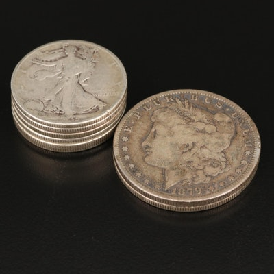 Morgan Silver Dollars and Walking Liberty Silver Half Dollars