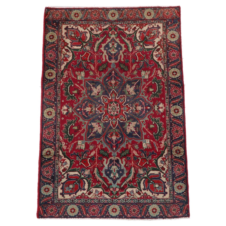 2'10 x 4'4 Hand-Knotted Persian Ahar Wool Area Rug