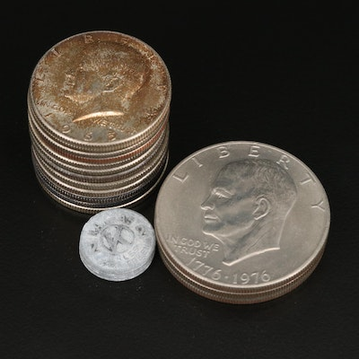 Eisenhower Dollars and Silver-Clad Kennedy Half Dollars