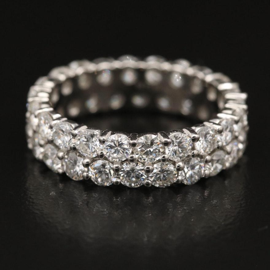 Platinum 3.64 CTW Diamond Eternity Band