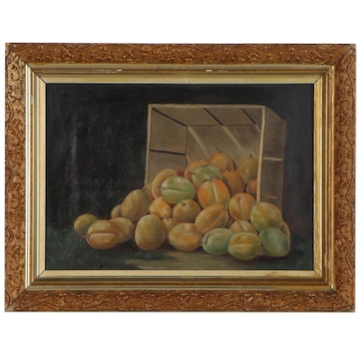 Still Life Oil Painting of Pears, Mid-20th Century