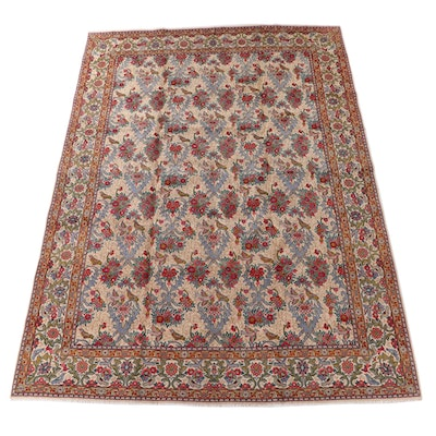 9'10 x 14'3 Hand-Knotted Persian Tabriz Wool Room Sized Rug