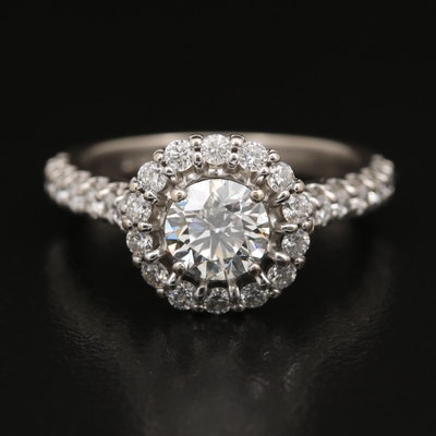 14K 1.86 CTW Diamond Halo Ring