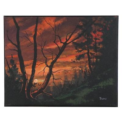 "Douglas Johnpeer Oil Painting ""Sunset Glow,"" 2020"