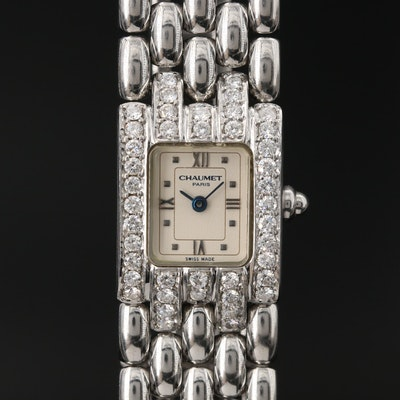 Chaumet  Khesis 1.05 CTW Diamond and Stainless Steel Quartz Wristwatch
