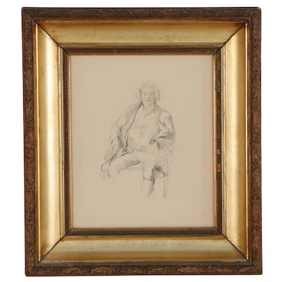 Hand-Colored Lithograph of Sir Thomas Lawrence's Father, Early 20th Century