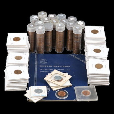 Large Assortment of Lincoln Wheat Cents