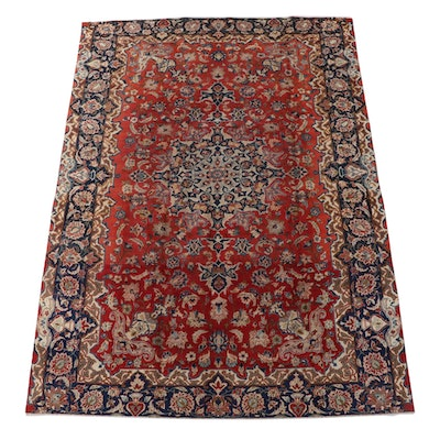 8'2 x 11'1 Hand-Knotted Persian Mashhad Wool Area Rug