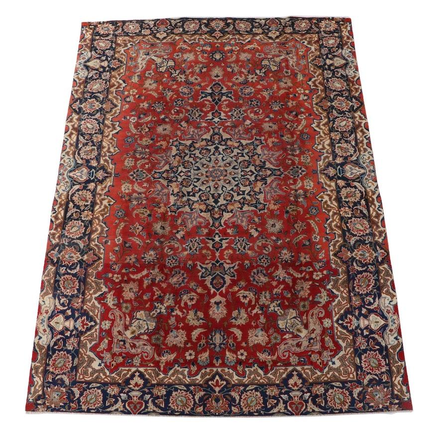 8'2 x 11'1 Hand-Knotted Persian Mashhad Wool Area Rug