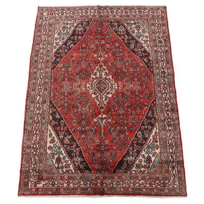 7'0 x 10'3 Hand-Knotted Persian Gogarjin Wool Area Rug