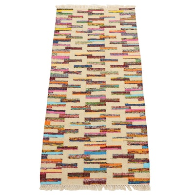 2'8 x 6'3 Handwoven Indian Wool Kilim Runner
