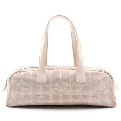 Chanel Travel Line CC Logo Jacquard Mini Boston Bag