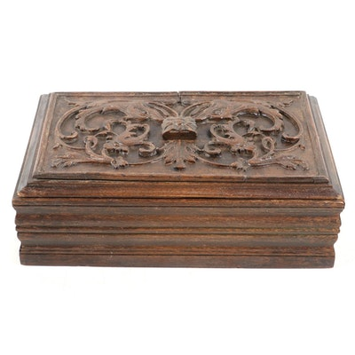Renaissance Style Carved Oak Lidded Box