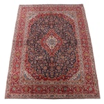 9'11 x 13'9 Hand-Knotted Persian Kashan Wool Room Sized Rug