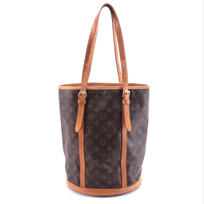 Louis Vuitton Marais Bucket Bag Gm in Monogram Canvas and Vachetta Leather