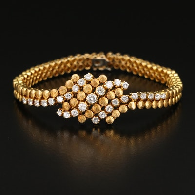 18K 1.29 CTW Diamond Multi-Row Bracelet