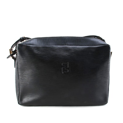 Fendi Crossbody Camera Bag in Black Epi Leather