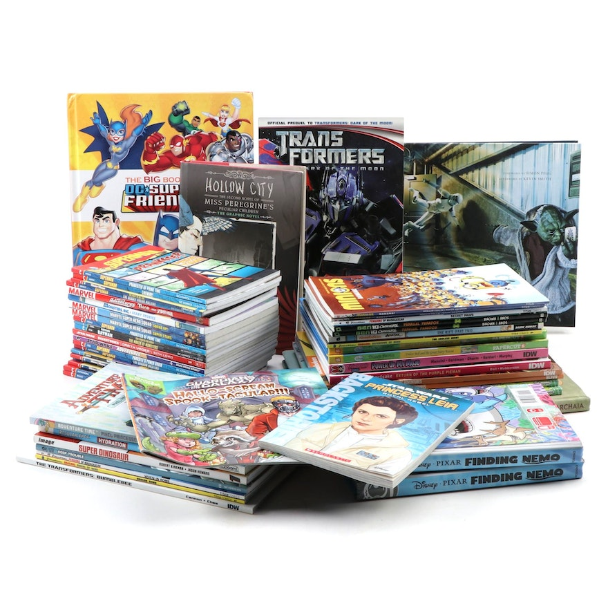 Collection of Children's Books and Graphic Novels, Including Superman and More