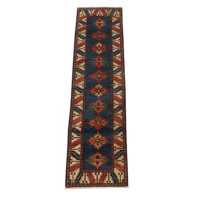 2'8 x 10'0 Hand-Knotted Caucasian Kazak Wool Carpet Runner