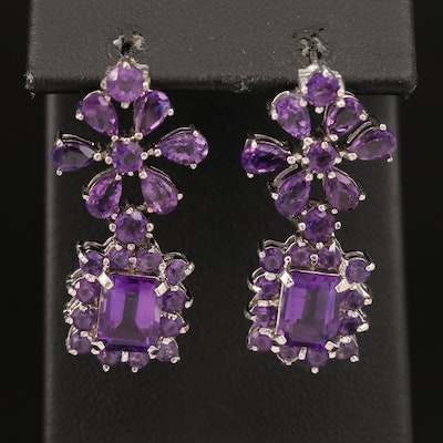 Sterling Amethyst Drop Earrings