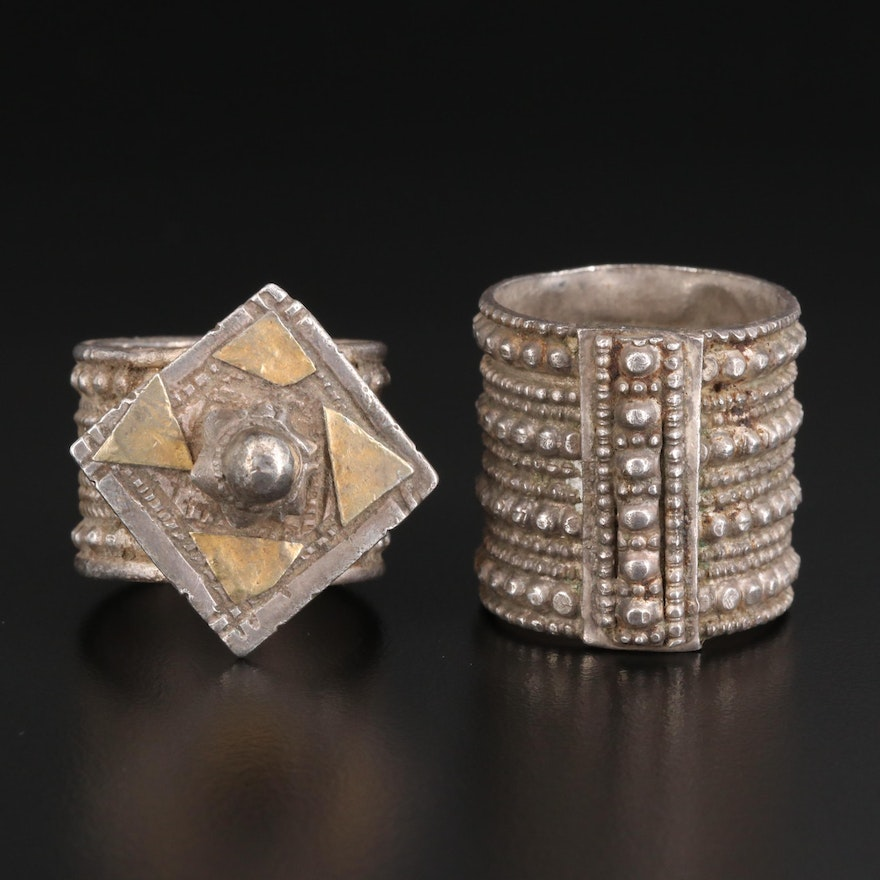 Antique Omani Sterling Silver Rings