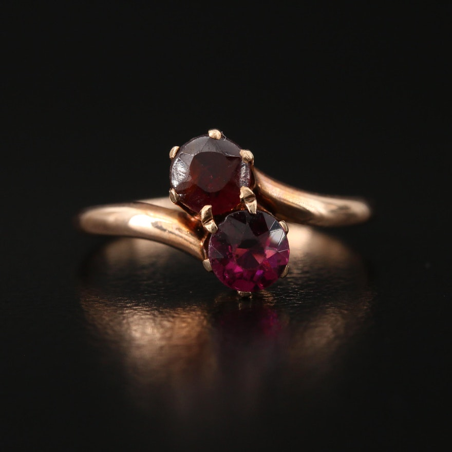 10K Garnet Ring
