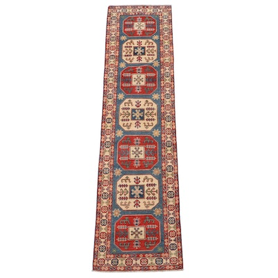 2'8 x 10'4 Hand-Knotted Turkish Anatolian Carpet Runner