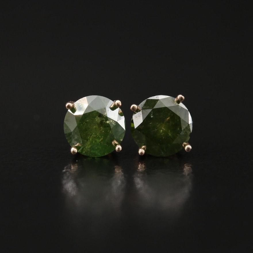 14K 1.35 CTW Diamond Stud Earrings
