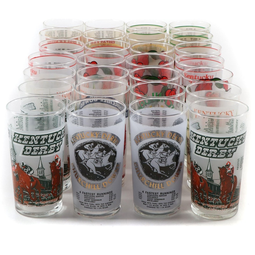 Libbey Kentucky Derby Mint Julep Glasses, Late 20th Century