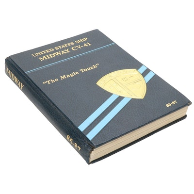 US Navy USS Midway CV 41 WestPac Cruise Book, 1985-1987