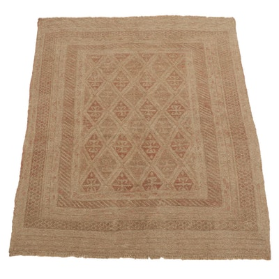 4'7 x 5'11 Handwoven Afghan Soumak Rug