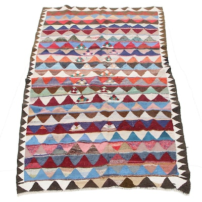 6'0 x 9'3 Handwoven Persian Kilim Wool Area Rug