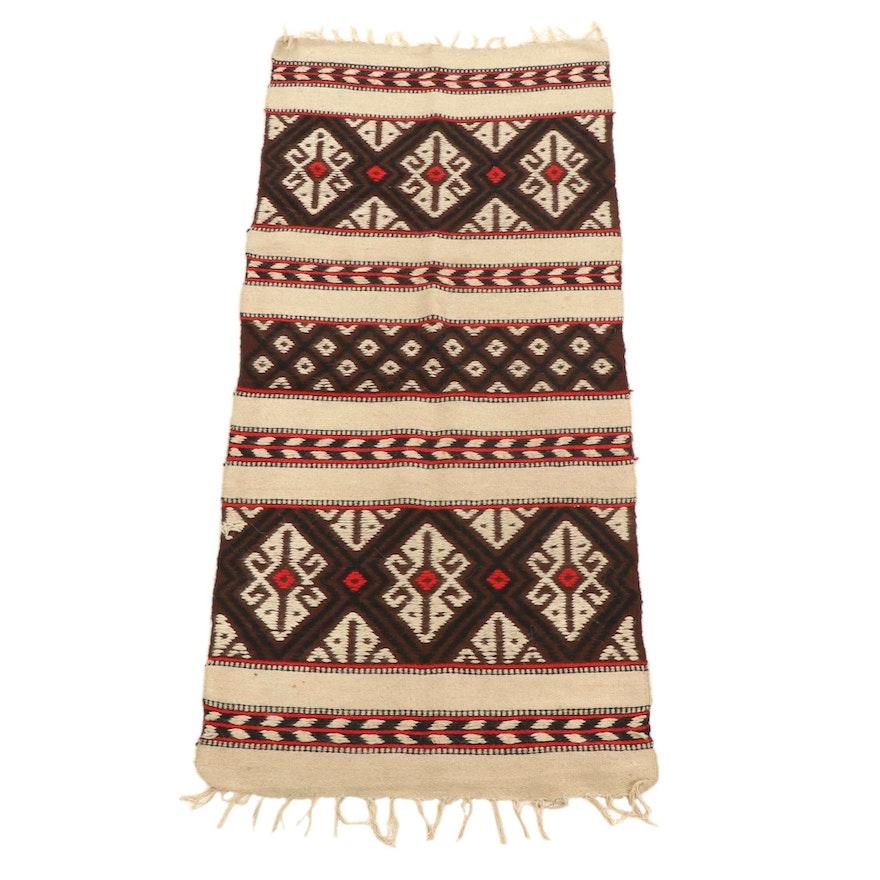 2'1 x 5'2 Handwoven Afghan Kilim Carpet Runner