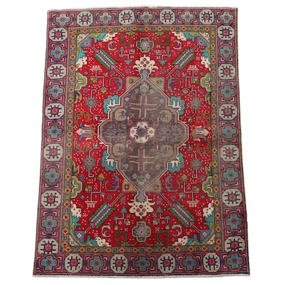 4'2 x 5'11 Hand-Knotted Caucasian Kuba Wool Area Rug