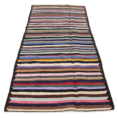 4'6 x 10'4 Handwoven Persian Kilim Wool Area Rug