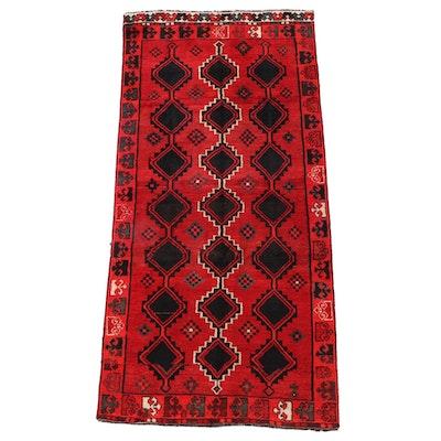 4'1 x 8'9 Hand-Knotted Persian Shiraz Luri Wool Area Rug