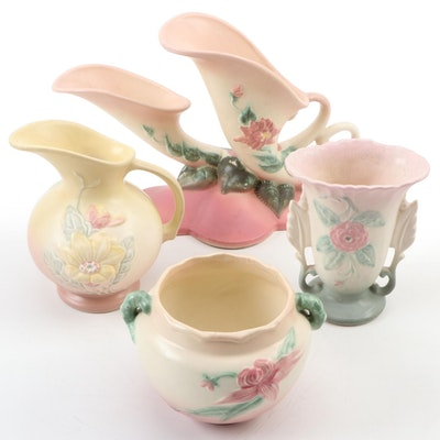 "Hull Pottery ""Woodland"" Jardinière, Double Cornucopia Vase and More"