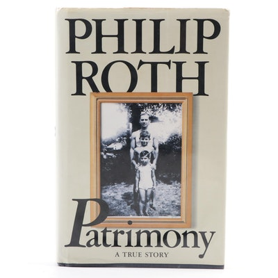 "Philip Roth Signed ""Patrimony"" First Edition"